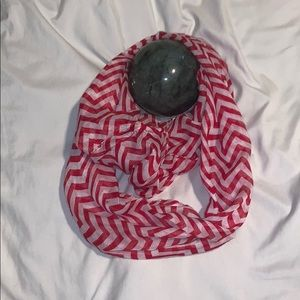 Accessories - Red and black Chevron Infinity scarf